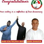 Emmanuel Elesi Congratulates James Oche